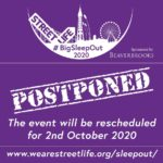UPDATE: #BigSleepOut2020 Postponed until October 2020